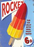 Wiscombe Rocket Ice Lolly Seaside Beach Cafe 15x20cm Vintage Metal Sign Plaque